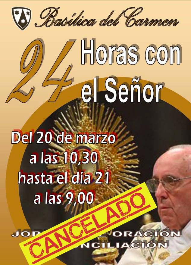 24h con el Señor: CANCELADO